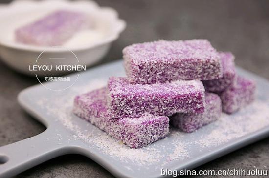 椰蓉紫薯糕