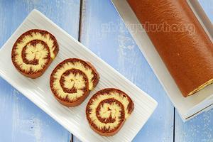 惊艳视觉和味蕾的巧克力旋风蛋糕卷(图)