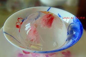 颜值与美味并重的--樱花水信玄饼(图)