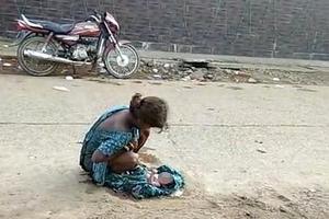 17岁印度少女遭男友抛弃路边产子 医院拒其求助