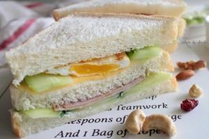 十分钟搞定营养早餐--鸡蛋火腿三明治(图)