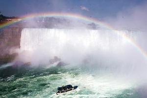 骑栏杆拍照 10岁男孩坠落尼亚加拉大瀑布