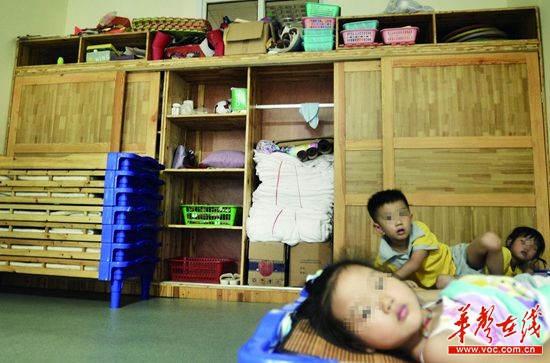 长沙市岳麓区银太幼儿园,小一班教室里的储物柜