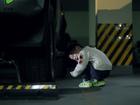 注意宝宝在停车场安全