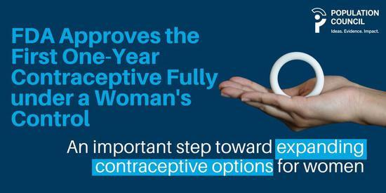 FDA批准了史上第一个女用长效避孕环