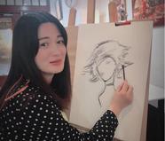 """""""双儿""""陈少霞挺巨肚学绘画"""