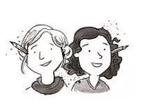 插画家丽莎•汉施和拉蒙娜•乌曲娜,特别喜欢给孩子们画画,以及在地铁上观察人。其创作的青少年侦探系列读物《penny pepper》获得世界大奖。