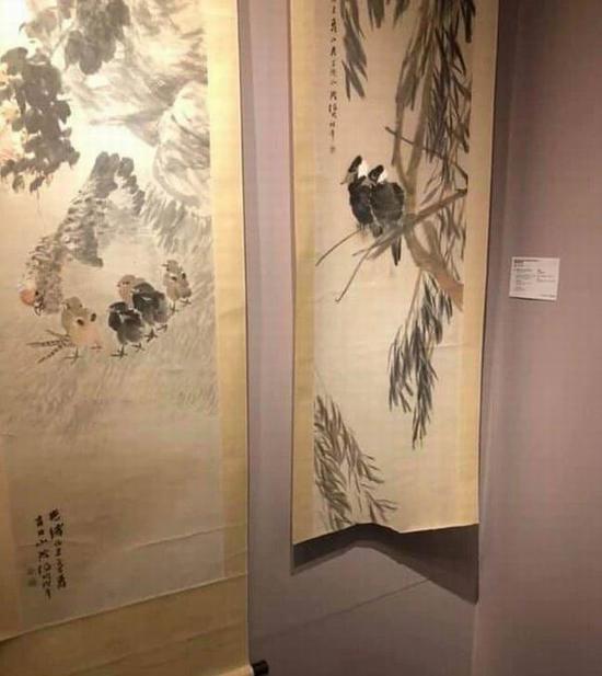 香港佳士得预展,画作被毁现场