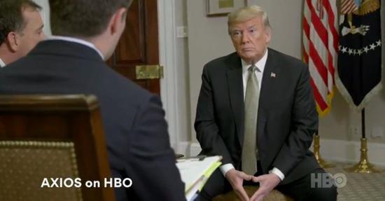 美国总统特朗普接受美媒采访