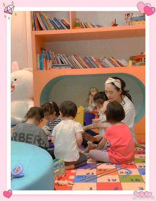 章子怡与孩子们