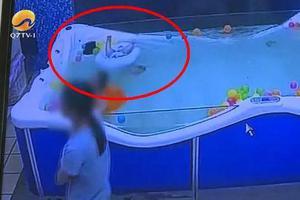 7月大男婴母婴店游泳溺水 选错游泳圈会要宝宝的命!