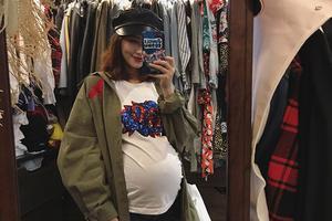 欧弟妻子二胎怀孕8月晒照 肚子大到惊人