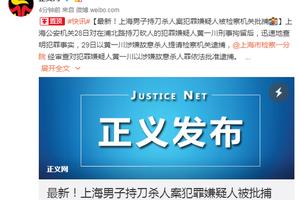 男子报复社会在上海砍杀小学生致2死 被提起公诉