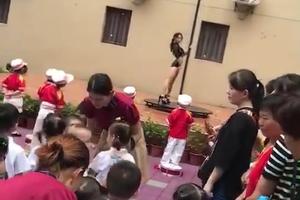 幼儿园开学典礼上现女子跳钢管舞 园方向家长致歉