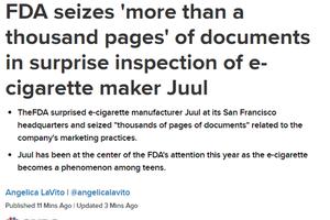 营销诱导青少年吸烟 美国FDA突查北美当红电子烟Juul
