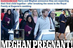 梅根王妃怀孕预产期明年春天!哈里王子将当爸