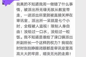 女教师罚站学生被派出所关7小时 官方:副所长停职