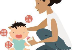 新生儿体重下降、头上长包、乳房肿大或是生理性变化