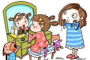 """5岁宝贝偷用化妆品太""""不正常?#20445;?#29238;母的眼界决定孩子一生的审美!"""