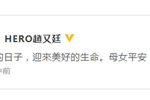 赵又廷宣布高圆圆产女喜讯:母女平安 谢谢大家