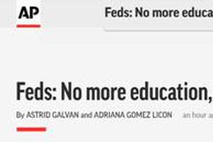 美政府停止为移民儿童英语课程付钱 遭议员炮轰