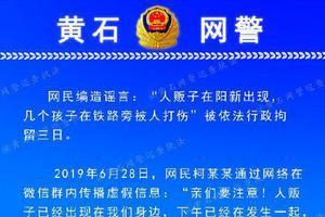"""湖北一網民編造""""人販子打傷孩子""""謠言 被拘3日"""