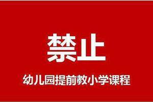 教育部:严禁幼儿园提前教授小学教育内容