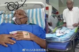 年过7旬初当父母 印度夫妇生完双胞胎后住院急救