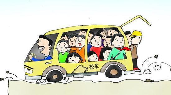 核载9人面包车挤15人半数是小学生 司机被记12分