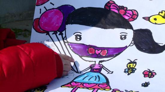 8歲女孩唐婭玲所作的畫