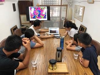(北京西城区,大书智美学俱乐部,北京孩子深度参与藏区儿童画展策划)