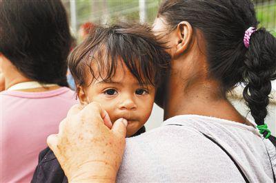 在美墨边境墨西哥马塔莫罗斯一侧的移民。