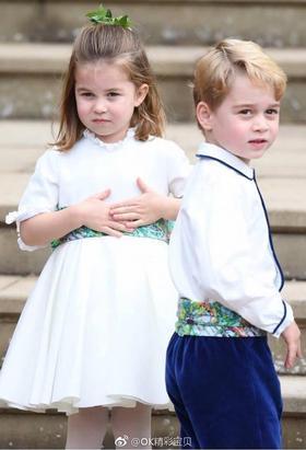 乔治小王子和夏洛特小公主第四次做花童