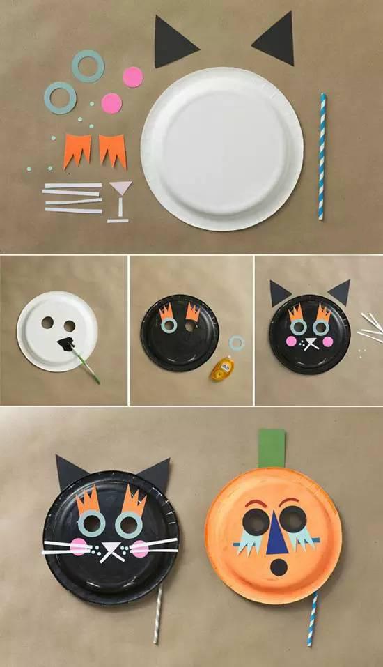 接着用丙烯颜料或者喷漆罐将盘子染色并静置干燥.