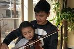 田亮听森碟拉小提琴