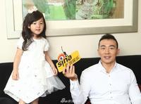 刘畊宏携女儿小泡芙接受采访