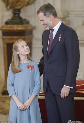 西班牙小公主被授予金羊毛勋章