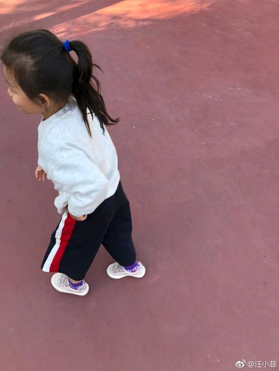 汪小菲带女儿逛动物园