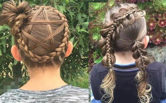 """妈妈的一手""""绝技""""让女儿拥有百变发型"""