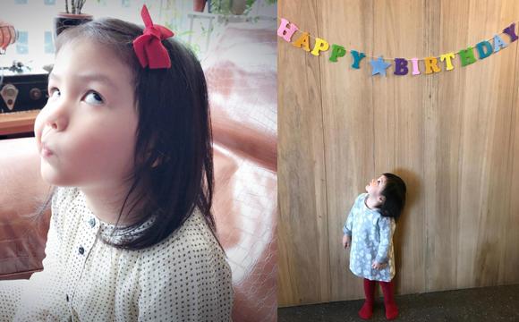 张震3岁女儿近照曝光