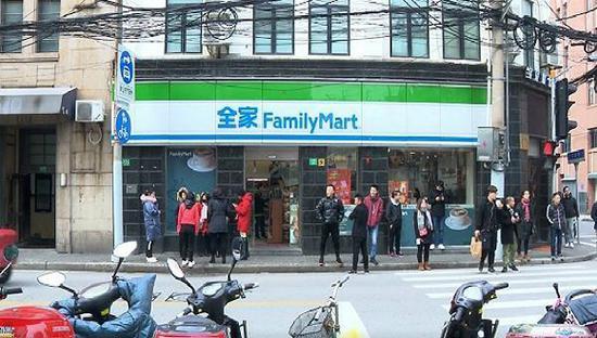 涉事的一家全家便利店。