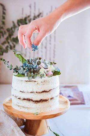 森林系婚礼风马德拉蛋糕