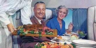 北欧航空50年代豪华飞机餐