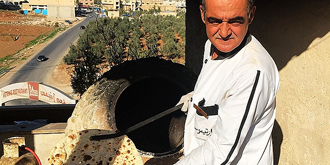 看约旦大叔做阿拉伯大饼