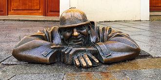 斯洛伐克首都最上镜的雕塑