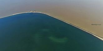 独特的双色海景致