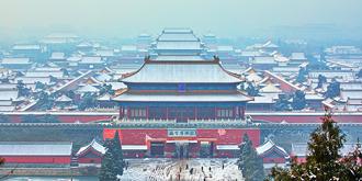 春雪后的京城古韵