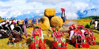 生活在高寒山区的彝族人
