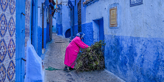 摩洛哥的蓝色迷城