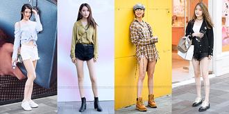 时尚潮女大秀美腿